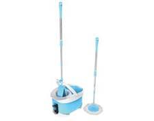 Cleaning Products:The Clean Spin 360 Duo Mop offers two interchangeable mop heads—one round with thousands of microfiber strands, the other rectangular with a thick microfiber pad. viatekproducts.com