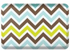 The new Seasons line from Wellness Mats allows consumers to switch the design of its mats easily. With almost 40 designs, the line includes this chevron design, in the stream colorway. wellnessmats.com