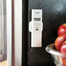 With the La Crosse Alerts Wireless Temperature & Humidity Sensor with mobile alert, someone can be notified when the heat goes off at the cabin or the temperature fluctuates in the refrigerator.