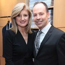 Arianna Huffington and Brent McDaneld of Rogaska.