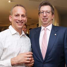 Porcelain maker Michael Wainwright, left, and Bill Rudin of Forty One Madison at the Lenox showroom party.