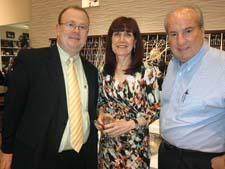 Bernie Wise of Forman Mills, Gwen Opfell of Lifetime Brands and Michael Close of Boscov's.