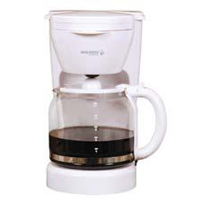With its crisp white lines, the company's 12-cup coffeemaker is a piece of decor as well as a functional appliance. holsteinhousewares.com