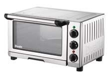The Professional Mini Oven has a powerful 1,300-watt motor that allows convection cooking, baking and broiling. dualitusa.com
