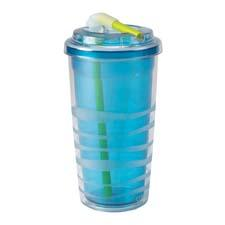 The 16-ounce Lock 'N Roll double-walled tumbler is designed for cold beverages and has a threaded, flexible flip straw with lock closer. copco.com
