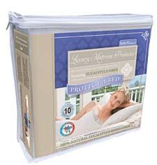 The Luxury Mattress Protector is a 100 percent waterproof, fitted sheet-style protector that merges Tencel with Protect-A-Bed's Miracle Membrane. protectabed.com