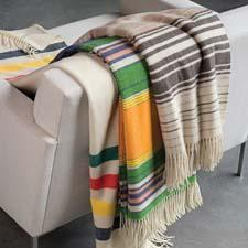 The 5th Avenue collection of throws is made with superfine merino wool, softly brushed, producing a fleecy hand. pendleton-usa.com