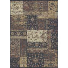 This soft-silk touch rug from Carpet Art Deco's Venice Collection blends warm, neutral tones with a trendy, hand-carved patchwork composition, and has an antique finish for a sophisticated look. carpet-art-deco.com