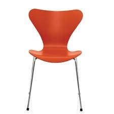 In production since 1955, the classic Fritz Hansen Series 7 chair will debut in a new color — orange — next month. The chair was created by designer and architect Arne Jacobsen. fritzhansen.com
