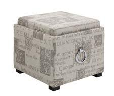 The Script Ottoman is a classic European twist on the popular and practical square storage ottoman concept. orientexpressfurniture.com