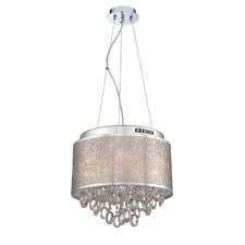 The EL-10069 ceiling lamp has a laser etched metal shade in an open, random design backed with a silver lurex liner.  lite-source.com