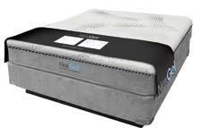 The redesigned NexGel mattress line features cotton ticking and a mosaic design that forms a swirl-like confetti pattern on the cover. naturaworld.com