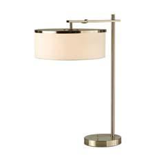 Called Flip, Nova's newest collection of oversized table and floor lamps allow the shade to flip up or face down. The table lamp here stands 27 inches high when the shade is facing down. novalamps.com