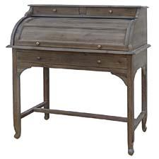 The Secretary Desk—made of acacia wood—is part of the Belmont Collection, which takes its cue from the grand hotels and mansions of a bygone era. fourhands.com
