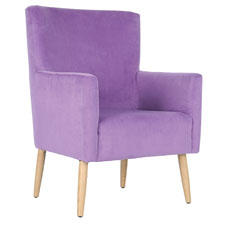 The new Retro Collection features '50s and '60s retro designs in fashion colors and includes the Everett Arm Chair. safavieh.com
