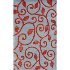 Bold tonality is found in the Fogli design from The Rug Market America. It's hand tufted of wool and art silk. therugmarket.com