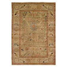 New colorations have been added to Harounian's best-selling Peshawar collection, including the P-6 light blue/ivory design here.  hrirugs.com