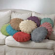Saro The West Palm collection is a group of crocheted decorative pillows made of 100 percent paper. saro.com