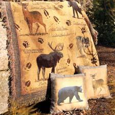 Animal Instincts is the company's new lodge collection, including a throw, a runner, placemats, mini-plates and indoor/outdoor pillows. manualww.com