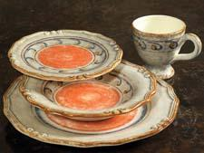 Among Intrada's many new dinnerware patterns is Classico, offering authentic Italian design using warm traditional terracotta and earthy colors. intradaitaly.com