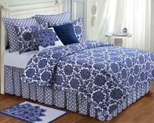Davenport, from C&F Enterprises, is a bold, graphic floral in a lapis blue on a white colorway. cnfei.com
