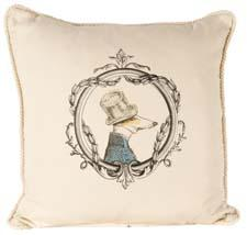 The French Gentlemen collection from Ox Bow Decor is a grouping of pillows designed with animal parodies. oxbowdecor.com