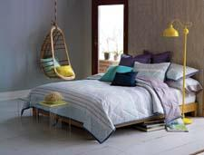Easter Island provides the inspiration for the Mataveri comforter from Blissliving Home. blisslivinghome.com