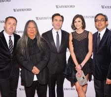 Waterford executives Michael Craig, John Rocha, Pierre de Villemejane, Jo Sampson and Regan Iglesia.