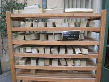 Marseilles soap (this from Marius Fabre) is made from nothing more than olive oil, baking soda and sea salt.