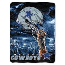 A blanket with the logo of the Dallas Cowboys, measuring 60-by-80 inches. The Northwest's sports licenses encompass all of the major sports and a wide selection of teams. thenorthwest.com