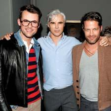 The Bravo Channel star Brad Goreski with Delavan and designer and television host Nate Berkus