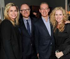 Designer Alexa Hampton, with Gilt Home's Jason Goldberger, Gilt Groupe's Kevin Ryan and Gilt Home's Shane Reilly.