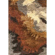 New shag collections include Utopia, a polyester group of four designs, including the one shown here, as well as Bella, a polyester line, and Unison, a polyester/wool collection. jaipurrugs.com