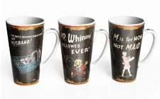 Jay Companies offered more than a dozen new mug collections for the market including those pictured. 212-683-2727