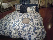 A bed ensemble from the company's new license with Williamsburg.
