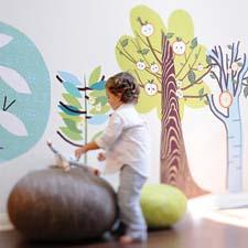 "Pop and Lolli encourages ""picture poetry"" with its assortments of whimsical designs for children, like these Enchanted Forest Trees. popandlolli.com"