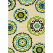 Sphinx by Oriental Weavers' indoor/outdoor offering expands with Caspian, which has pops of bright color and is machine woven in Egypt of polypropylene. owsphinx.com