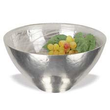 This mouth-blown, hand-decorated and silverplated alabaster bowl is from Badash Crystal. badashcrystal.com