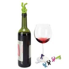 Umbra introduces the Drink Buddy, a set of six wine charms in assorted colors and an avocado bottle topper. umbra.com