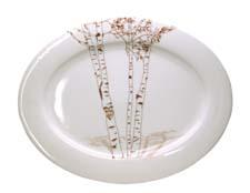 The Birch collection of decorated white porcelain from Rust Designs can be personalized. rustdesigns.com
