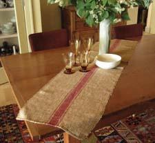 "The Unexpected ""Burlap"" Runner, hand-woven from two-textured silk, is new from the Ethiopian company Creative Women. creativewomen.net"