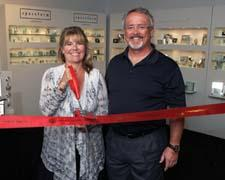 Spaceform's Mary and Keane O'Malley officially open the company's new showroom.