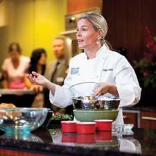 Cat Cora performed her cooking magic.