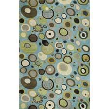Available in two colorways, including the Rain shown here, the Laguna design from Jaunty brings a fun look to the floor. jauntyinc.com