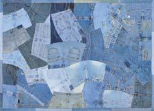 Loloi's Runway collection gives vintage blue jeans and denim shirts a second life as area rugs. loloirugs.com