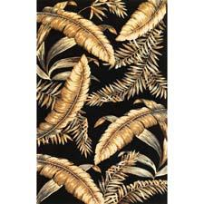 Kas Rugs' #3132 Black Ferns is a dense wool design with handcarving and is part of the Sparta collection of handtufted tropical patterns. kasrugs.com