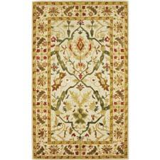 Summer florals transition their way into 828's more traditional Ellington line, which has handtufted and acid-washed wool and silk yarns and hand carving. 828rugs.com
