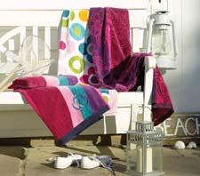 Christy's Blue Wave beach towel is part of a collection of eight vibrant patterns in Christy's grouping of ultraplush towels. welspunusa.com