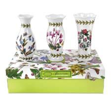 A set of three Botanic Garden mini vases is part of Portmeirion's giftables program. portmeirion.co.uk