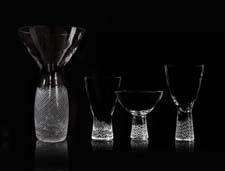 Steuben, which is sharpening its focus on core tabletop categories, last month introduced the Crosshatch collection, a sophisticated line of stemware, barware and giftware that imbues a minimal mid-century design with a sense of energy through etched crosshatching. steuben.com